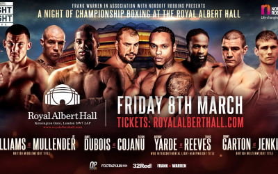 Anthony Yarde vs Travis Reeves weights and running order