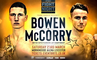 Sam Bowen vs Jordan McCorry