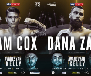 Undefeated prospects Sam Cox and Dana Zaxo added to Avanesyan vs Kelly card