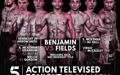 Channel 5 will televise every fight on the Sam Eggington vs Ashley Theophane card tonight tommy welch scott heavyweight pro debut start time date tv channel undercard Kaisee Benjamin and Ben Fields Stevie Aaron McKenna Michael Hennessy Jr