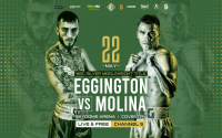 "Sam Eggington fully aware of the Mexican factor and prepared for ""trench war"" with Carlos Molina boxrec predictions may 22 channel 5 what time start date hennessy sports"