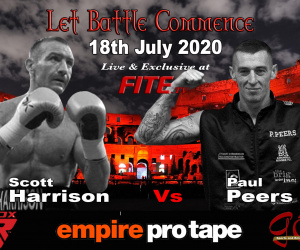 Former WBO World Featherweight champion Scott Harrison set for ring return on July 18 - live on fite.tv paul peers pbc
