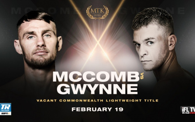 Karim Guerfi vs Lee McGregor is cancelled again Liam Walsh vs. Paul Hyland Jnr dubai fight night rotunda rumble mtk Sean McComb face Gavin Gwynne for the vacant Commonwealth lightweight title ifl tv espn