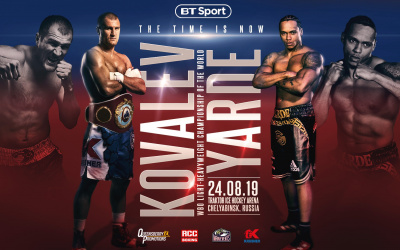 Sergey Kovalev vs Anthony Yarde fight time, date, TV channel, undercard, schedule, venue, betting odds and live stream details