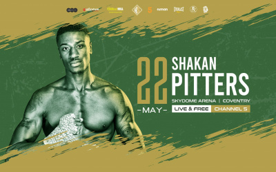 Shakan Pitters reveals chad sugden he will be more aggressive and controlling in next fight craig richards rematch british light heavyweight title may 22 channel 5