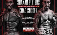 Shakan Pitters vs Chad Sugden Craig Richards witdraws British light-heavyweight title chennel 5 hennessey