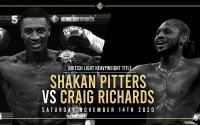 It's on! Shakan Pitters will defend his British Light-Heavyweight title against Craig Richards on November 14 channel 5 boxer who wins predictions previews highlights what why how when watch tv report results
