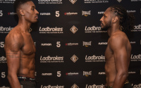 Shakan Pitters vs Craig Richards official weights and running order weigh in Channel 5 live 10pm river bent Troy Coleman sam cantwell Stephen McKenna british light heavyweight title ringwalks