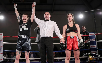Siobhan O'Leary Irish boxer Celtic Nations title Eftychia Kathopouli
