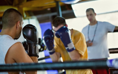 As restrictions on movements are eased, British boxers resume training
