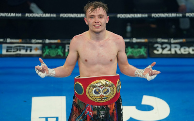 Sunny Edwards upsets Moruti Mthalane to win IBF Flyweight World Title unbeaten in 13 years boxrec report results watch who won wba wbo julio cesar martinez charlie steel city gym