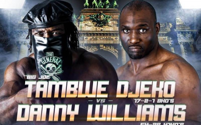 "Tambwe ""General Big Joe"" Djeko vs Danny Williams where to watch mike tyson"