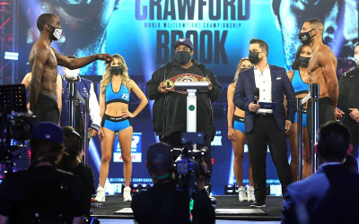 Weigh-In Results terence Crawford kell Brook and Franco-Moloney 2 World Title Doubleheader from The Bubble espn how to watch tv channel number what time start weights running order preview betting odds oddschecker