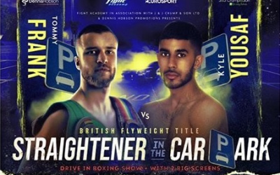 Tommy Frank vs Kyle Yousaf British flyweight title update dennis hobson new fight date reschedule