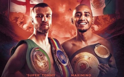 Tommy Frank vs Maximino Flores IBO world flyweight title Sheffield