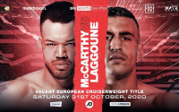 Tommy McCarthy lands European title shot on Usyk vs Chisora undercard Belgium Bilal Laggoune who is he pro amateur career record preview betting odds oddschecker