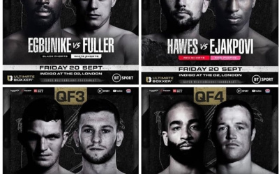 Ultimate Boxxer 5 Running Order weights