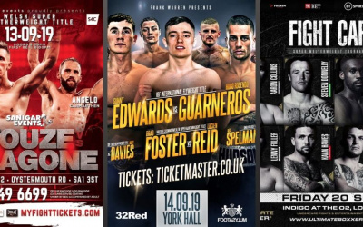 Where to watch British boxing during September this weekend