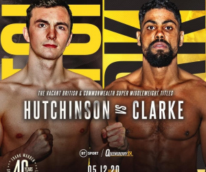 Willy Hutchinson and Lennox Clarke will clash for vacant British and Commonwealth super-middleweight titles