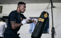 "Zelfa Barrett expects Kiko Martinez to come forward ""like a train"" SSE Arena Wembley Saturday February 13 live on Sky Sports UK DAZN IBF Intercontinental Super-Featherweight Title pat trainer uncle boxrec oddschecker betting odds"